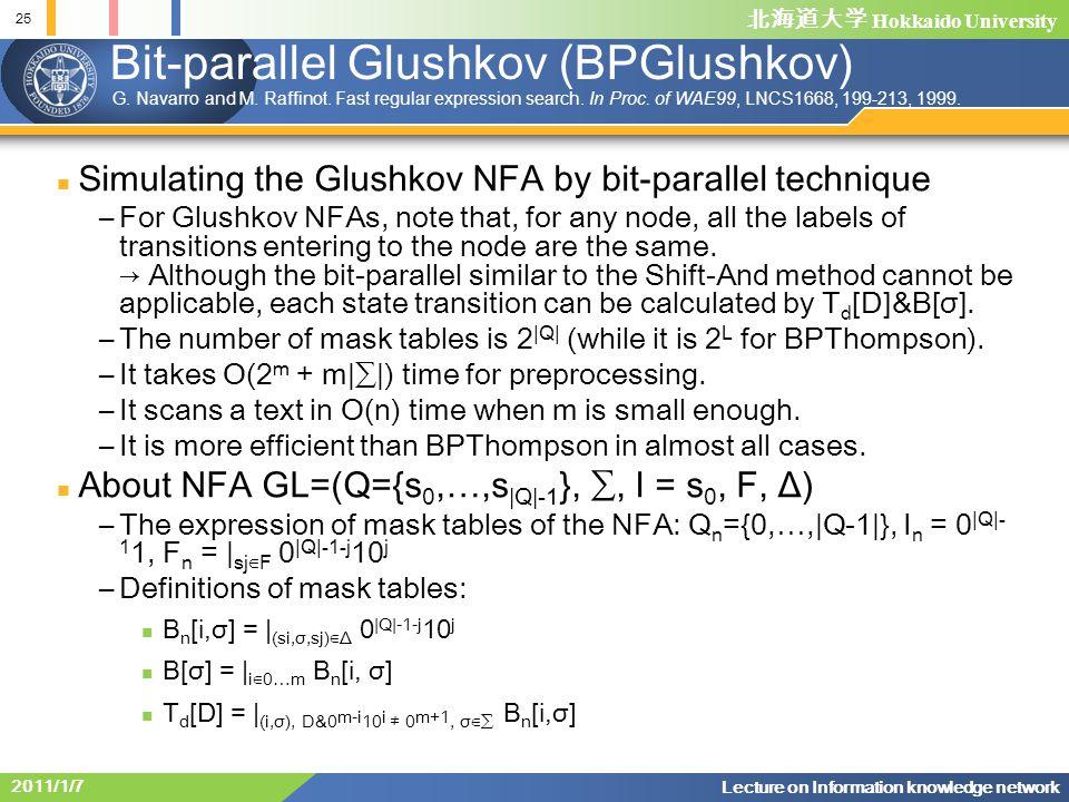 Bit-parallel Glushkov (BPGlushkov)