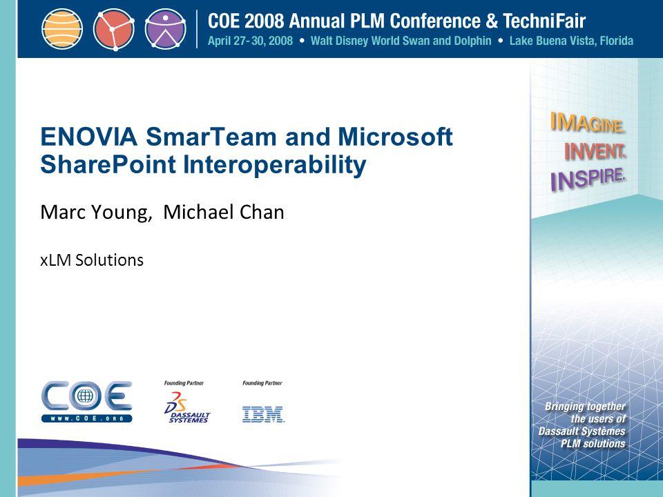 ENOVIA SmarTeam and Microsoft SharePoint Interoperability