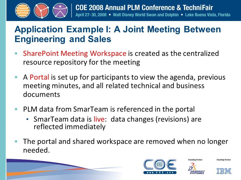 Application Example I: A Joint Meeting Between Engineering and Sales