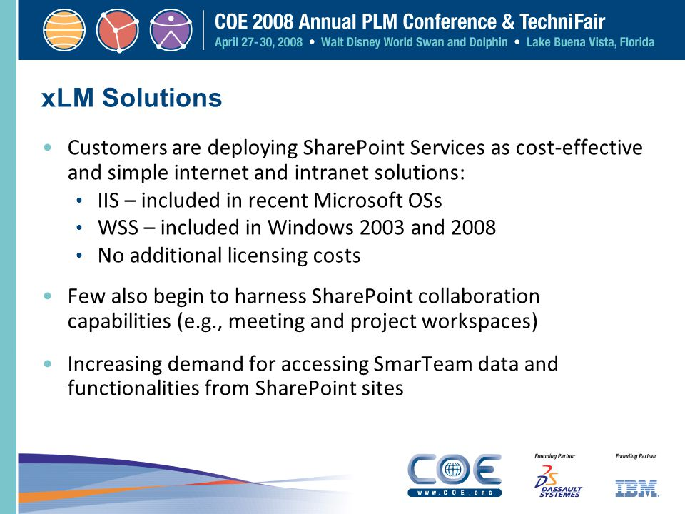 xLM Solutions Customers are deploying SharePoint Services as cost-effective and simple internet and intranet solutions: