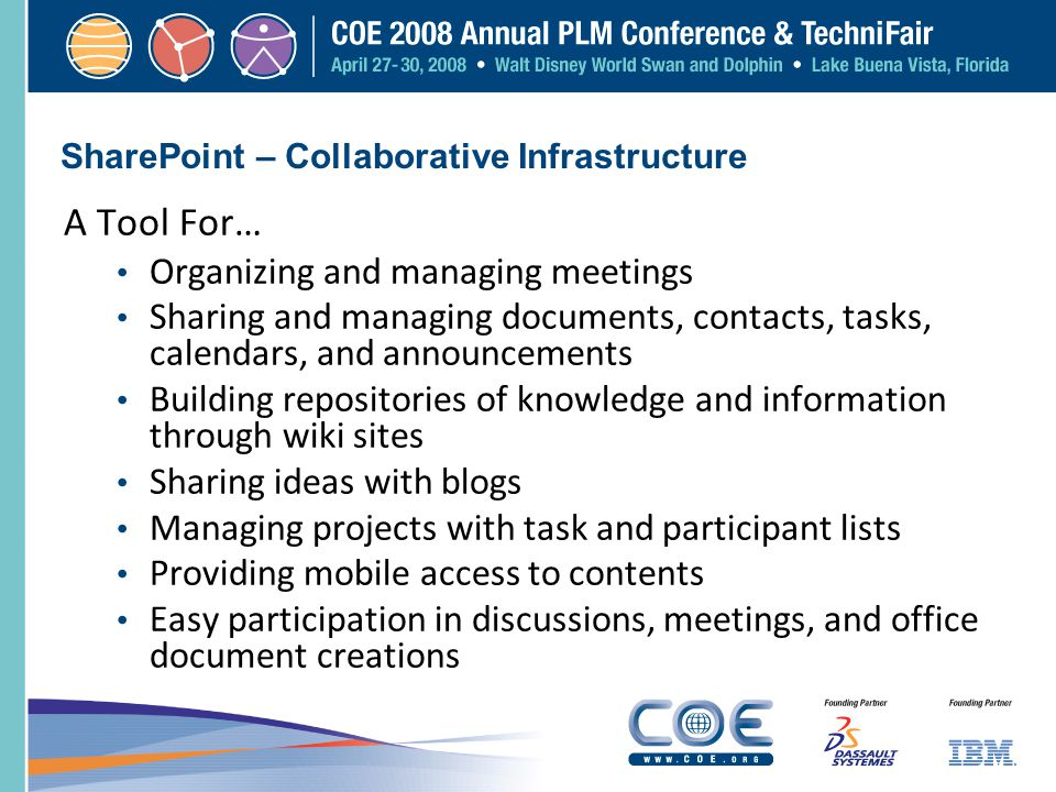SharePoint – Collaborative Infrastructure