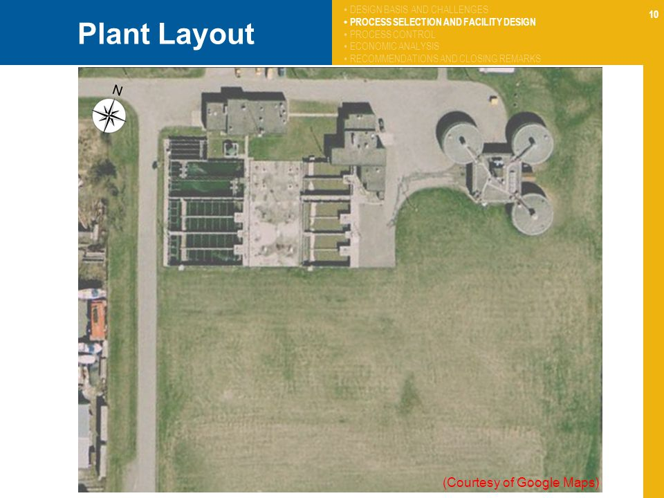 Plant Layout (Courtesy of Google Maps) DESIGN BASIS AND CHALLENGES