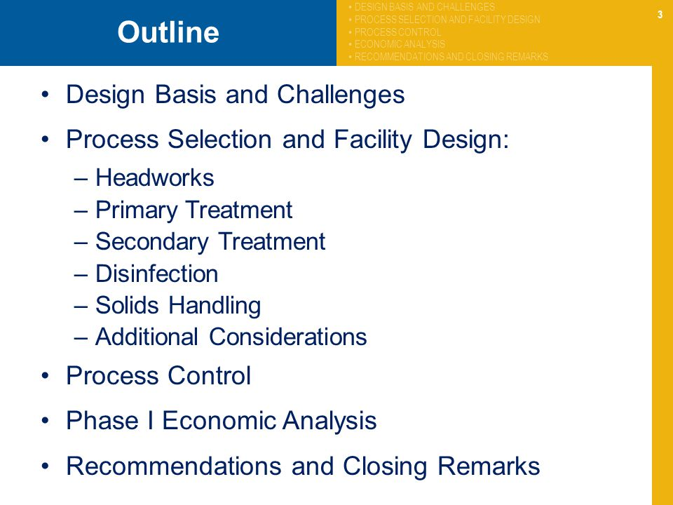 Outline Design Basis and Challenges