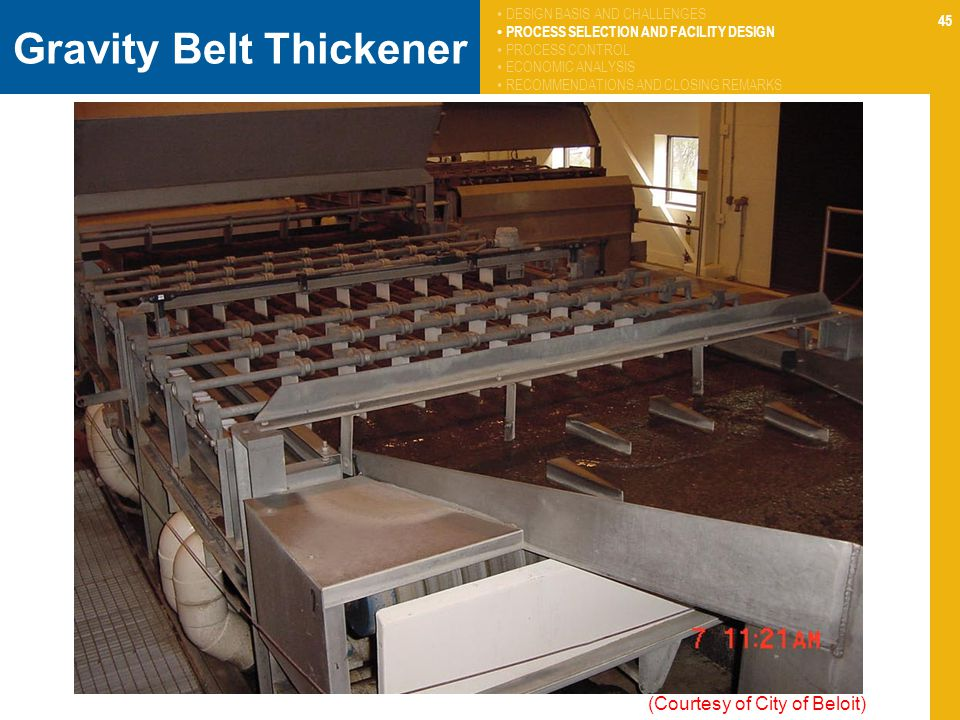 Gravity Belt Thickener