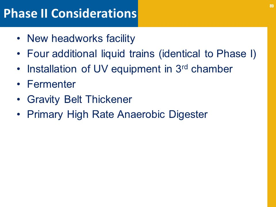 Phase II Considerations