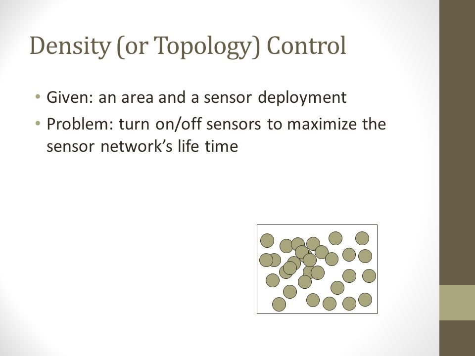 Density (or Topology) Control