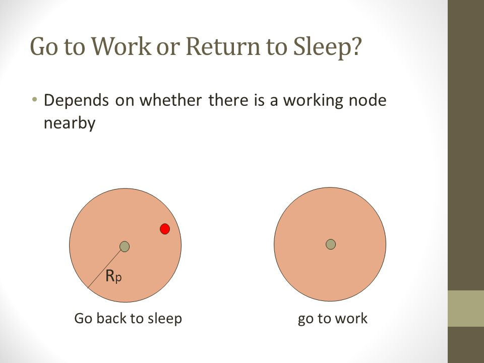 Go to Work or Return to Sleep