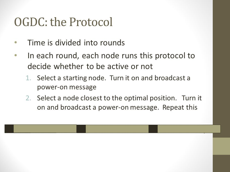 OGDC: the Protocol Time is divided into rounds