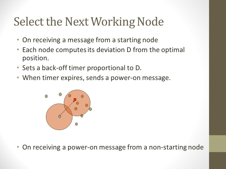 Select the Next Working Node