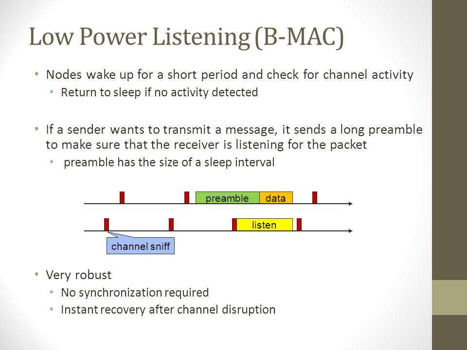 Low Power Listening (B-MAC)