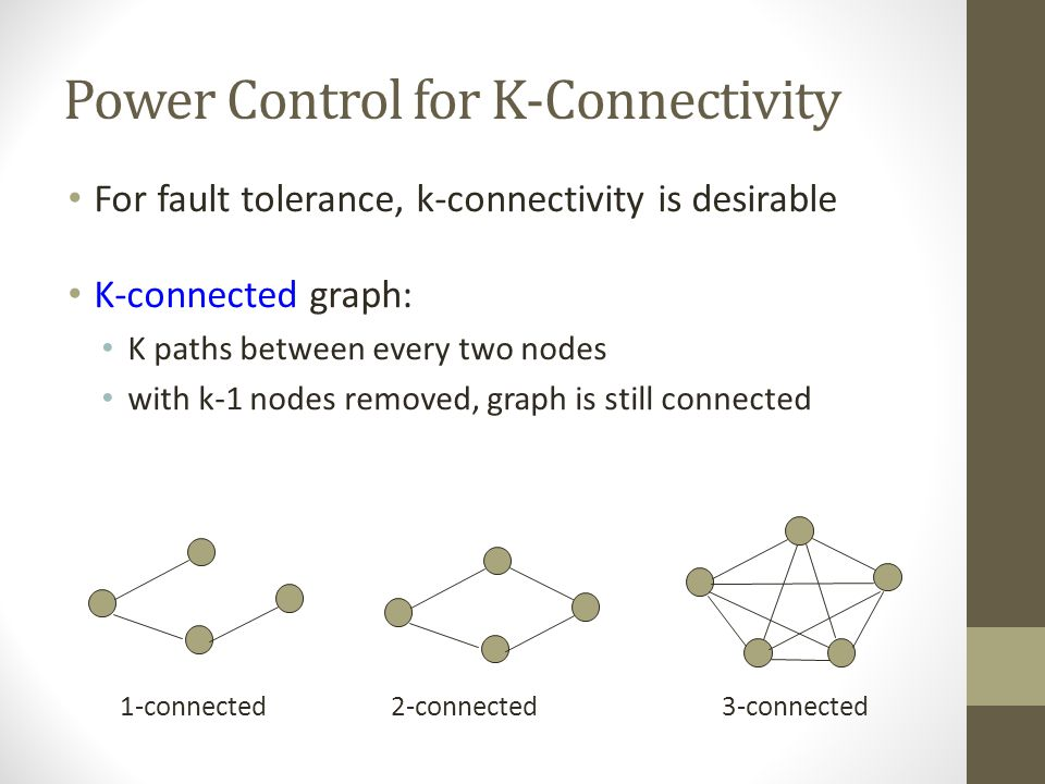 Power Control for K-Connectivity