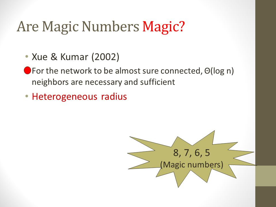 Are Magic Numbers Magic