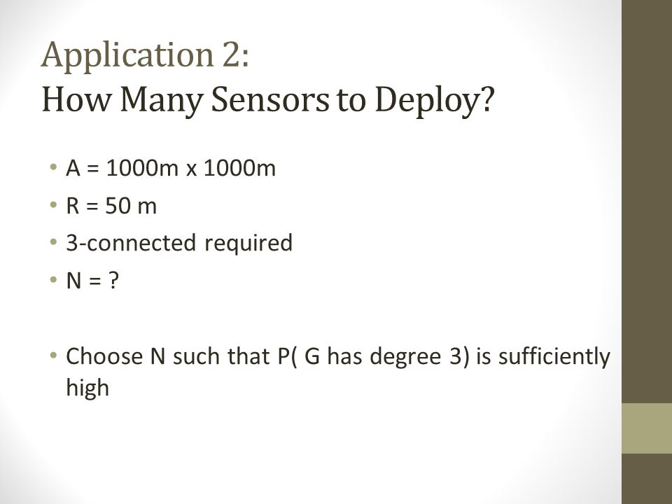 Application 2: How Many Sensors to Deploy