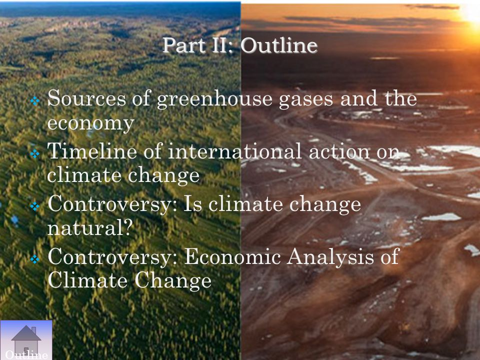 Sources of greenhouse gases and the economy