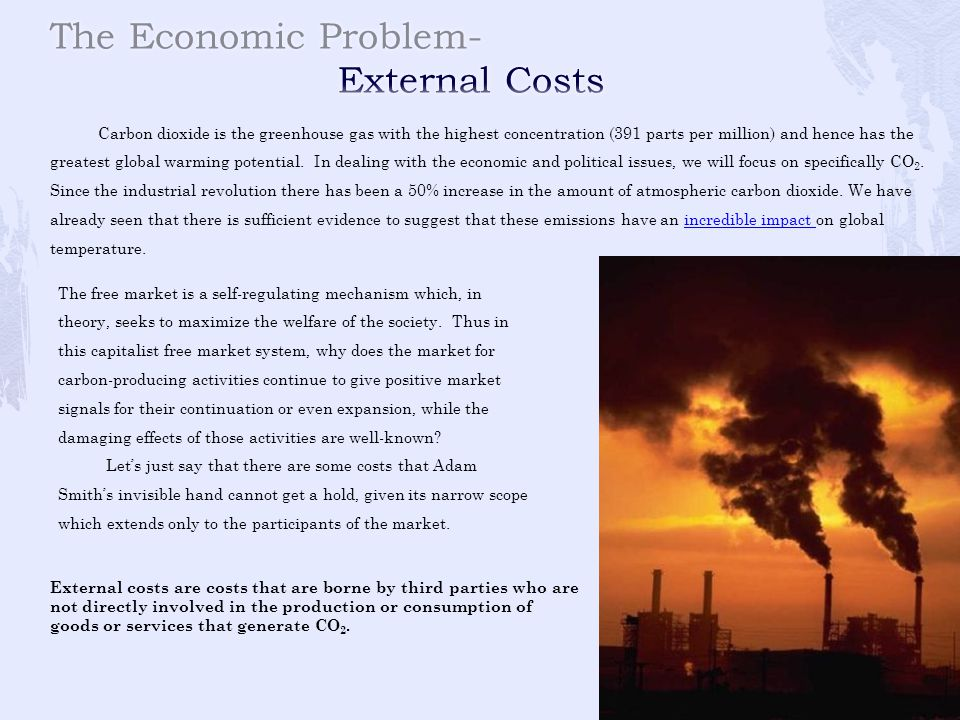 The Economic Problem- External Costs