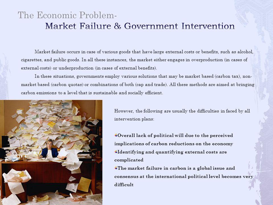 The Economic Problem- Market Failure & Government Intervention