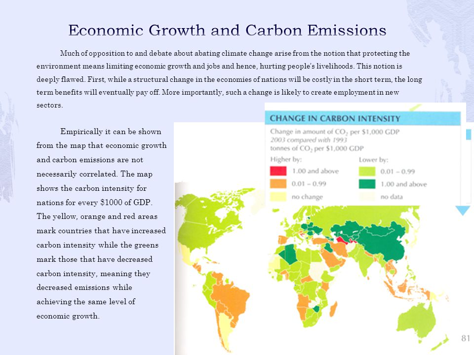 Economic Growth and Carbon Emissions