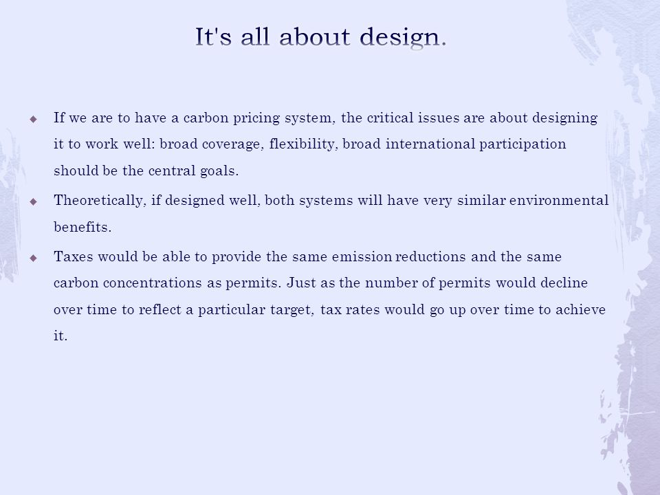 It s all about design.