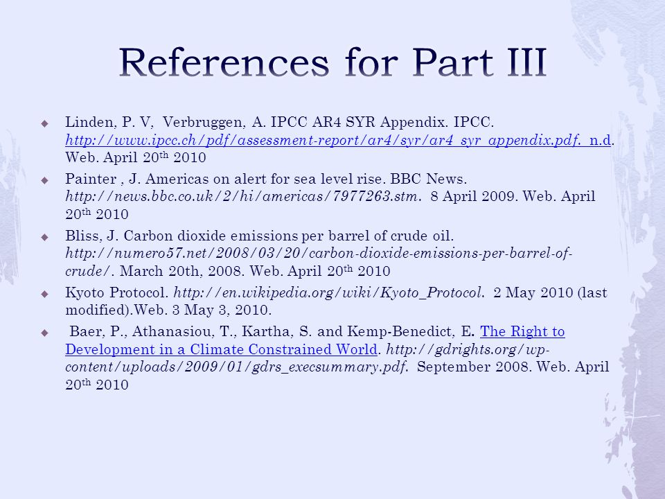 References for Part III