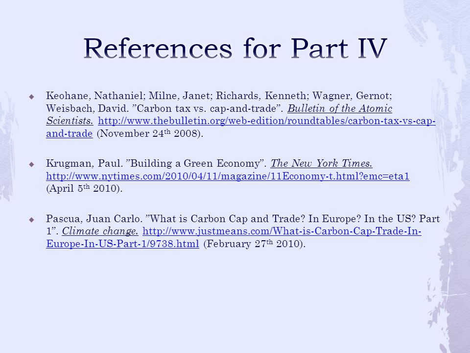 References for Part IV