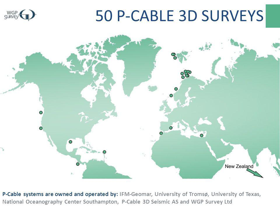 50 P-CABLE 3D SURVEYS