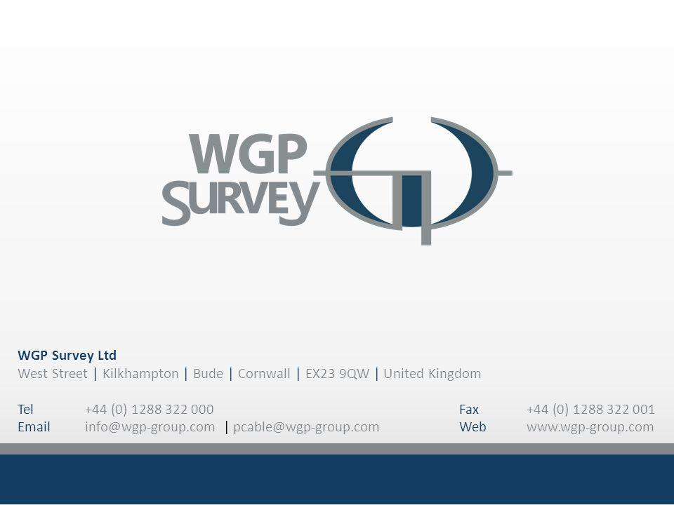 WGP Survey Ltd West Street | Kilkhampton | Bude | Cornwall | EX23 9QW | United Kingdom.