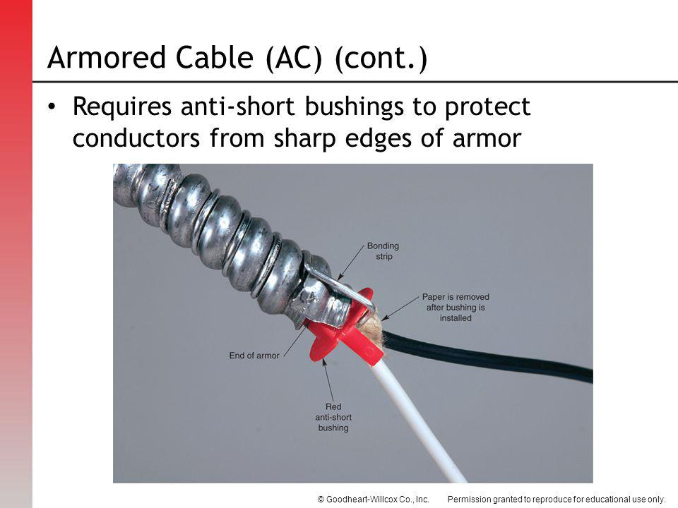 Armored Cable (AC) (cont.)