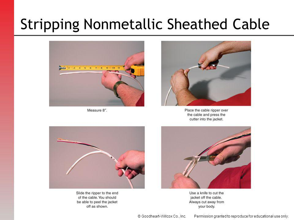 Stripping Nonmetallic Sheathed Cable