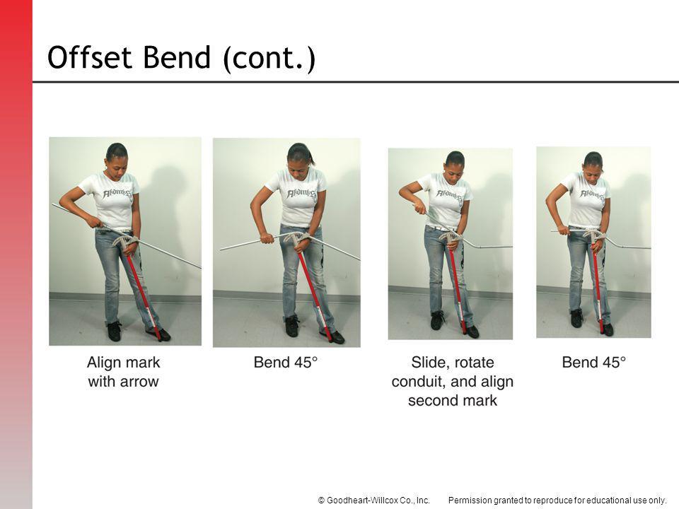 Offset Bend (cont.)