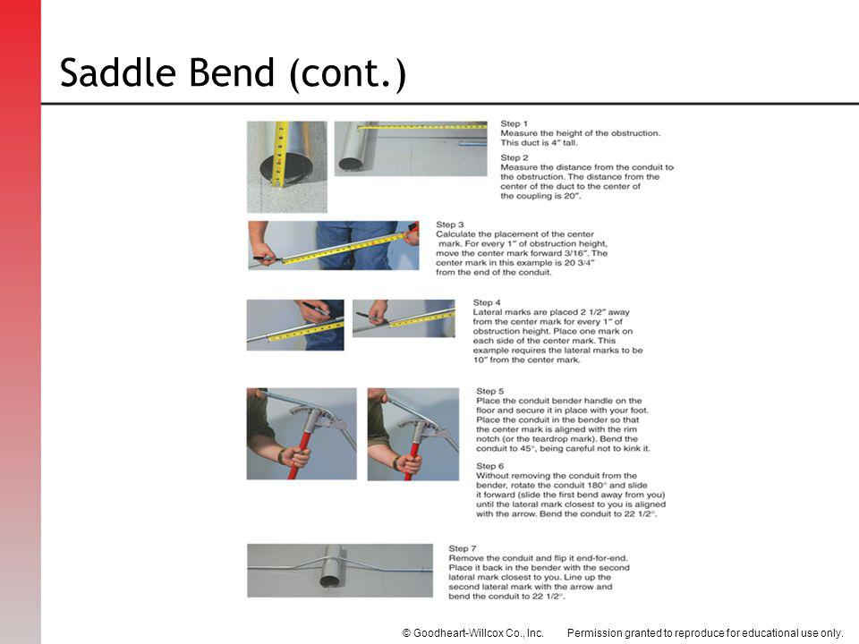 Saddle Bend (cont.)