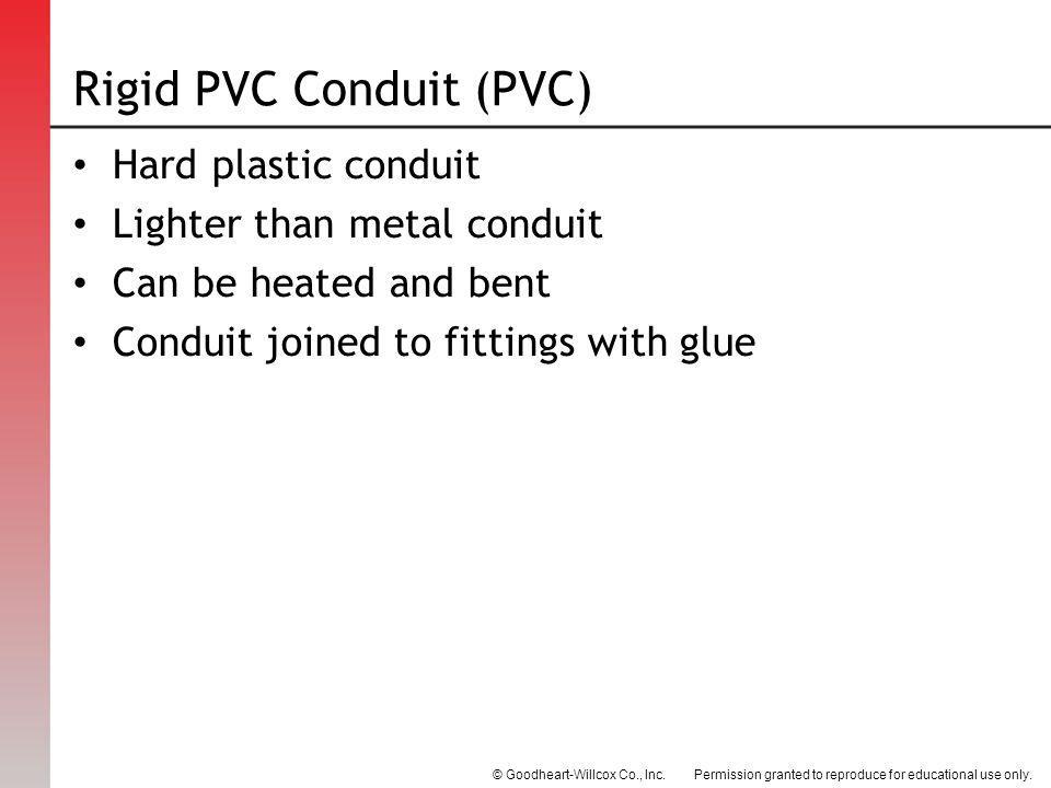 Rigid PVC Conduit (PVC)