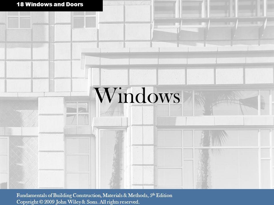Windows 18 Windows and Doors