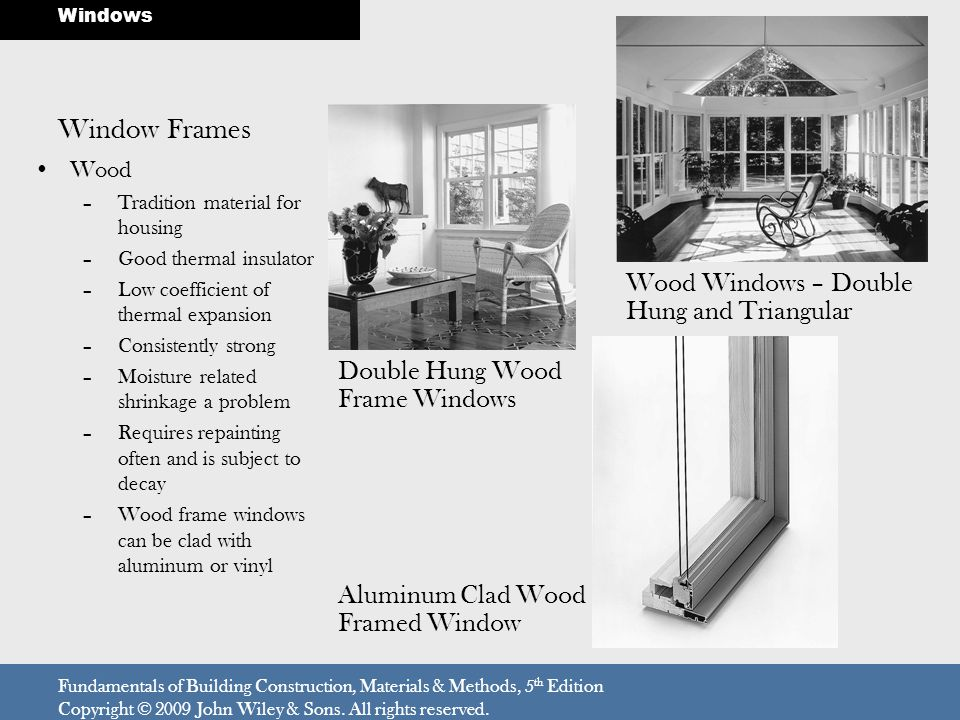 Window Frames Wood Windows – Double Hung and Triangular