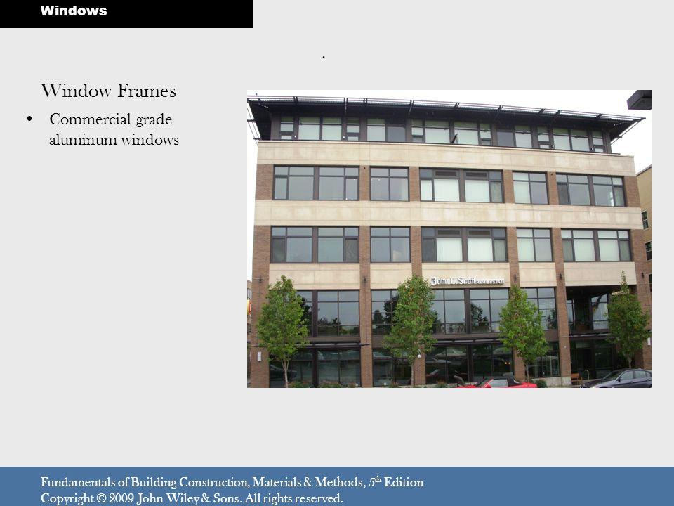 Window Frames . Commercial grade aluminum windows Windows