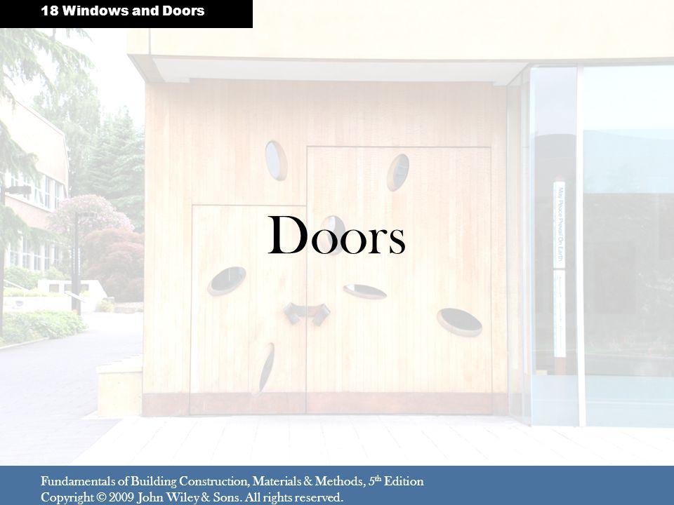 Doors 18 Windows and Doors