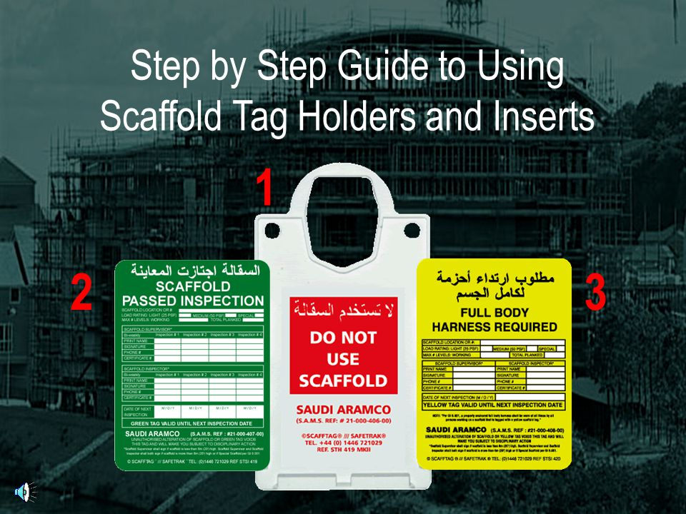 Step by Step Guide to Using Scaffold Tag Holders and Inserts