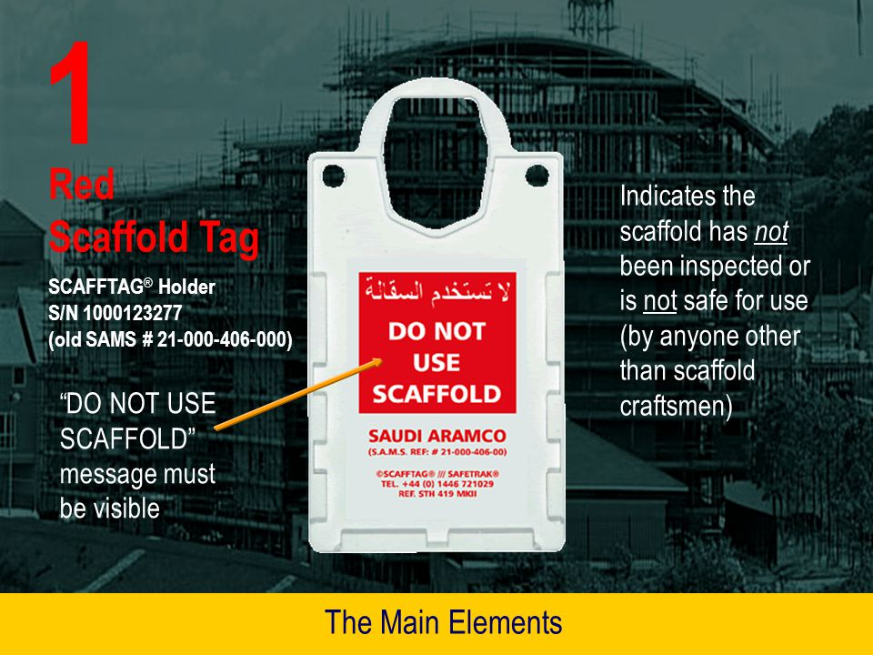 1 Red Scaffold Tag The Main Elements