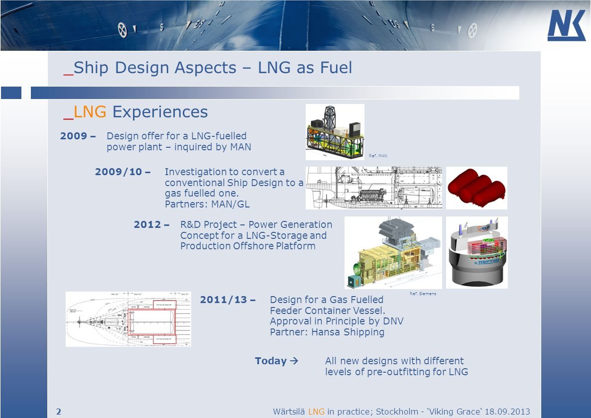 _LNG Experiences 2009 – Design offer for a LNG-fuelled power plant – inquired by MAN. Ref. MAN.