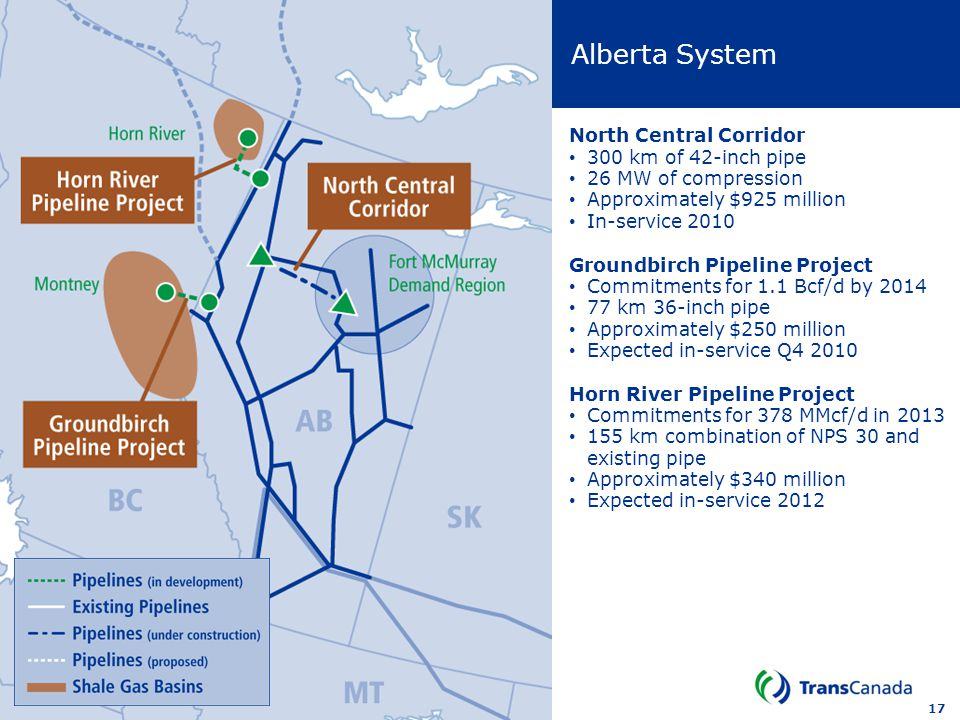Alberta System North Central Corridor 300 km of 42-inch pipe
