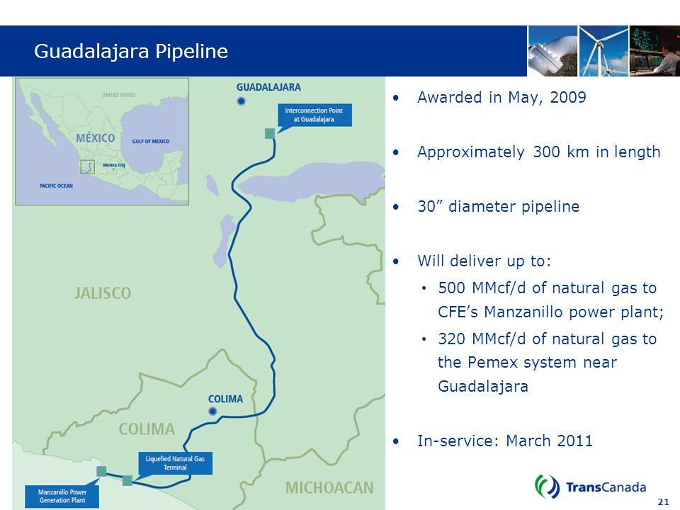 Guadalajara Pipeline Awarded in May, 2009