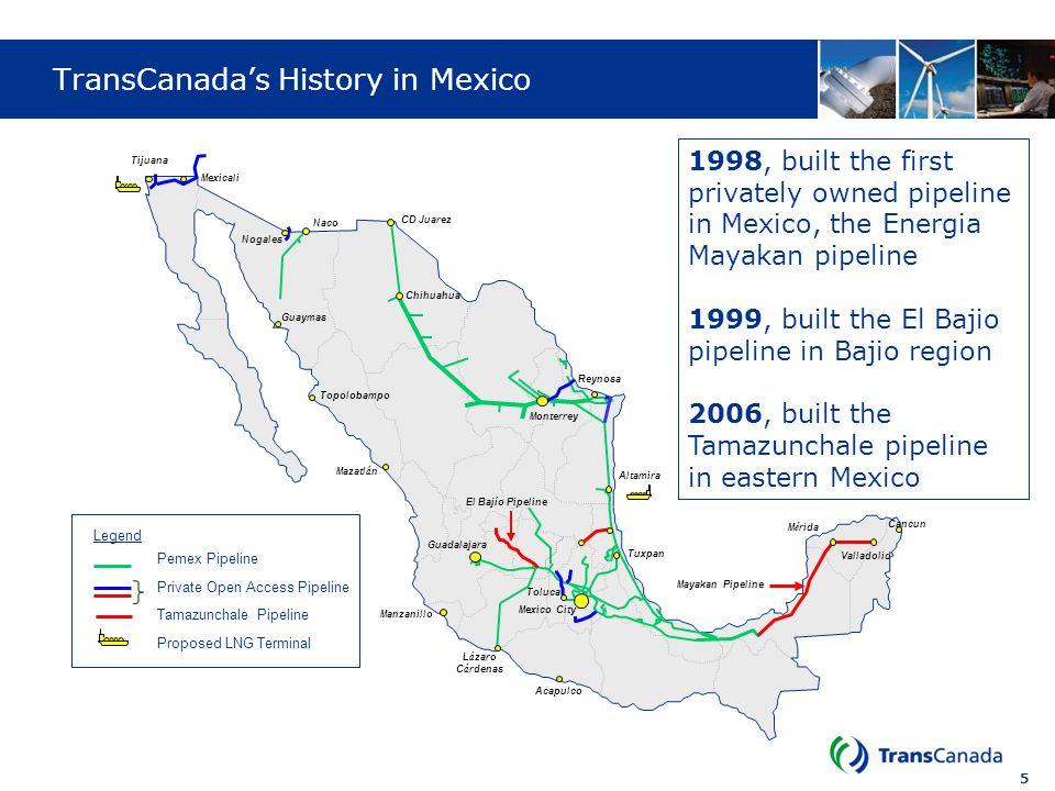 TransCanada's History in Mexico