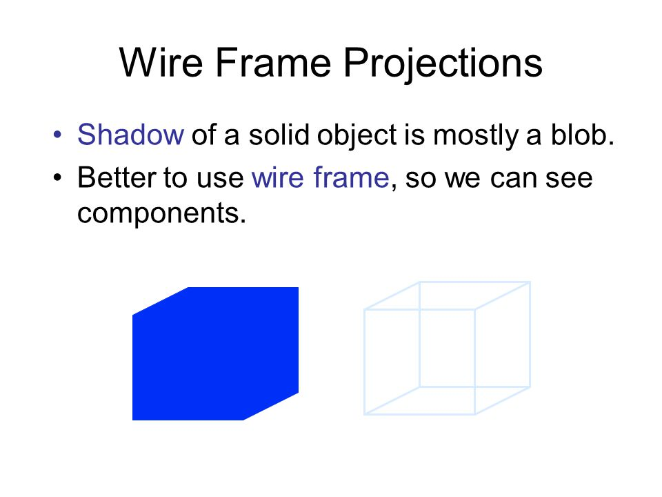 Wire Frame Projections