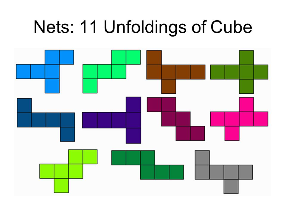 Nets: 11 Unfoldings of Cube
