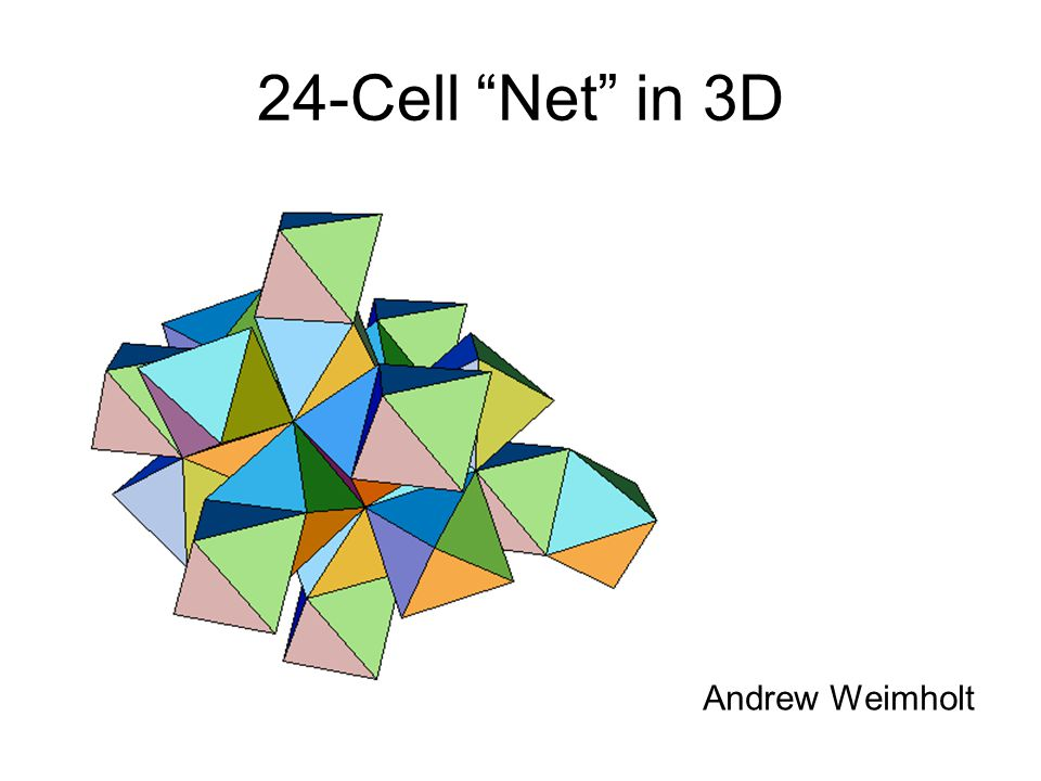 Florida 1999 24-Cell Net in 3D Andrew Weimholt