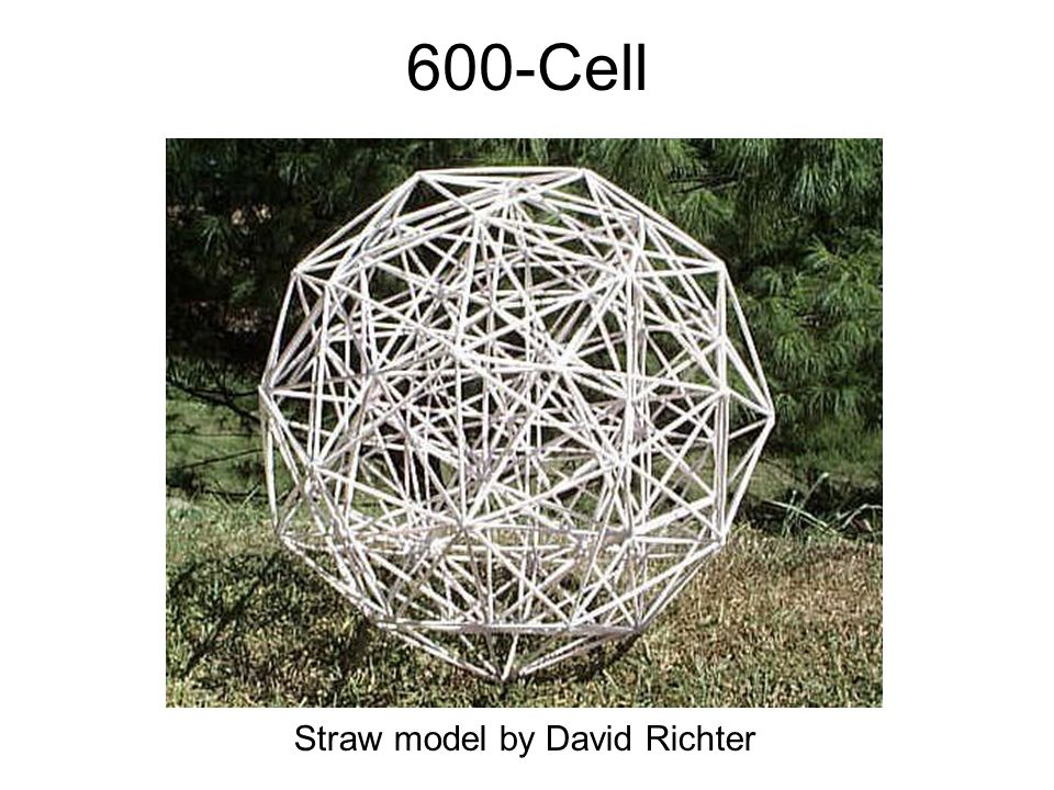 Florida 1999 600-Cell Straw model by David Richter