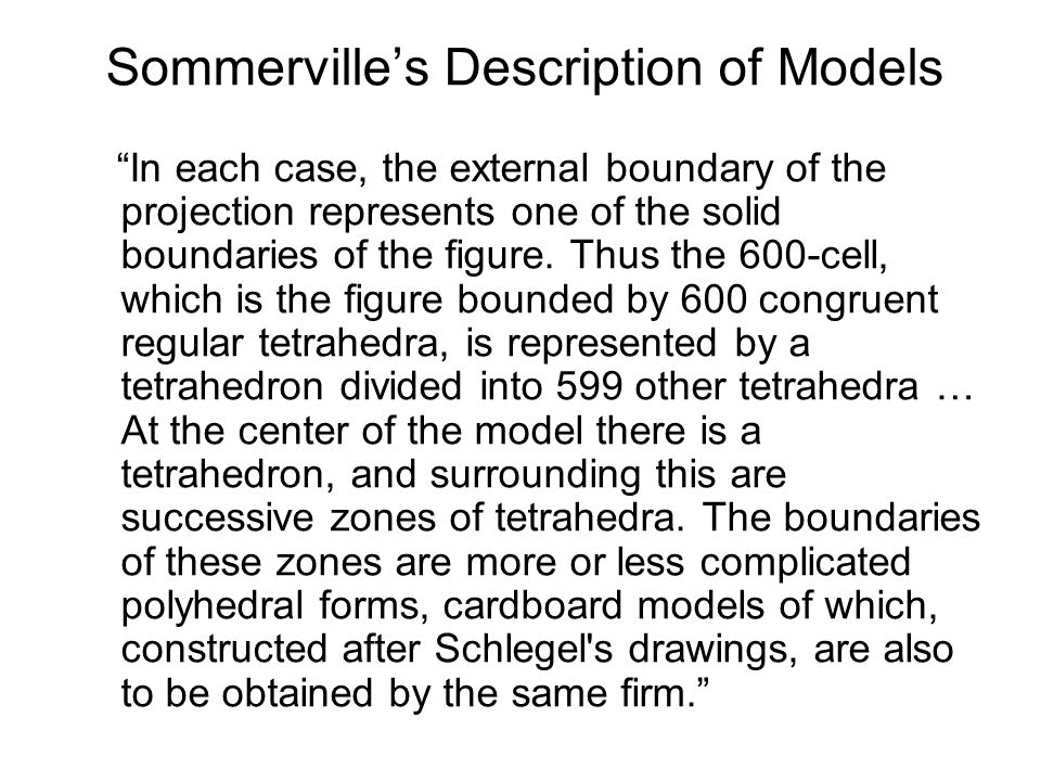 Sommerville's Description of Models