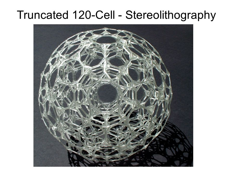 Truncated 120-Cell - Stereolithography