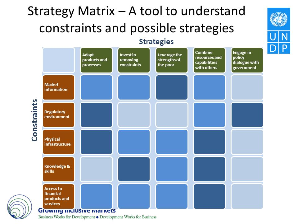 Strategy Matrix – A tool to understand constraints and possible strategies