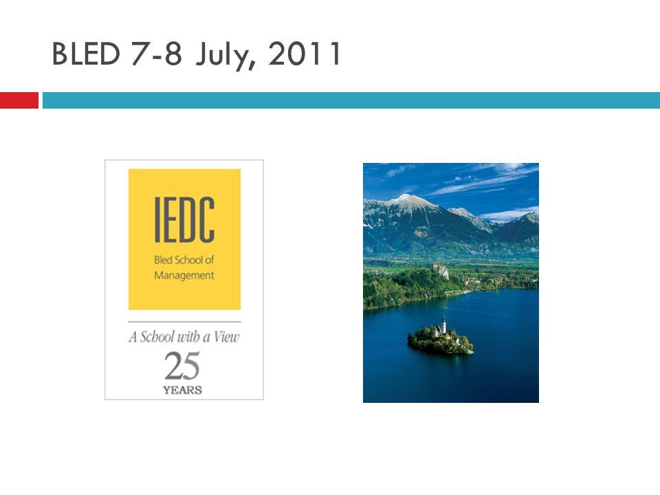 BLED 7-8 July, 2011