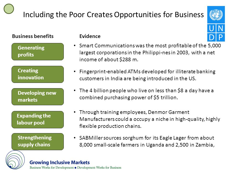 Including the Poor Creates Opportunities for Business